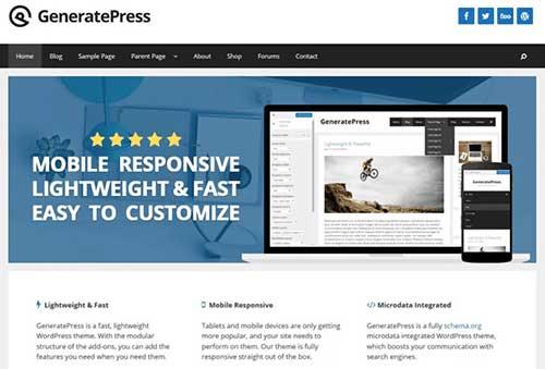 Responsive websites - GeneratePress