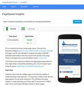 Google Pagespeed Insights - Mobile