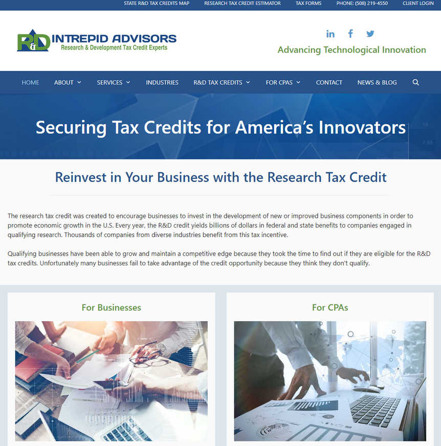 Intrepid Advisors - R&D Tax Credits