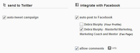 Integrated social media into MailChimp Campaigns