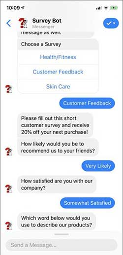 MobileMonkey Chatbot Surveys