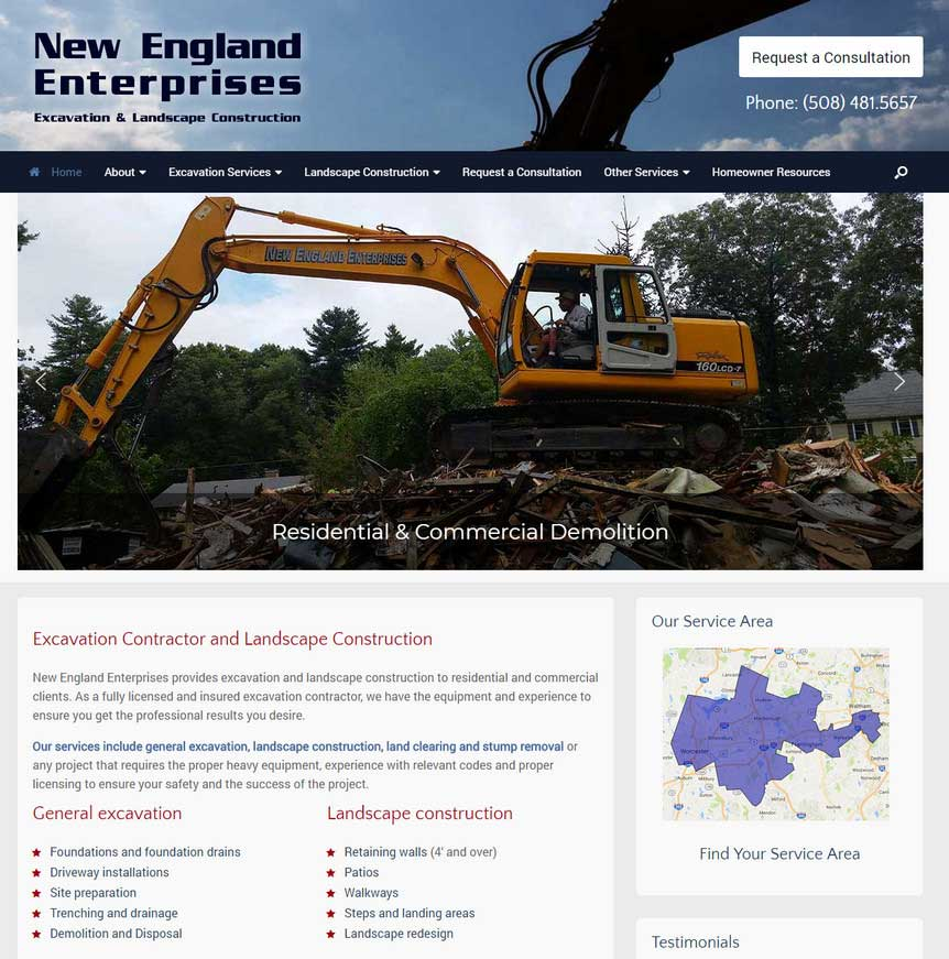 New England Enterprises - Excavation & Landscape Construction