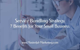 A service bundling strategy is a marketing tactic that involves offering multiple services as a package for a single price. Usually the price is a discounted sum of the pieces and the services are complementary.