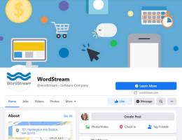 Wordstream branding - Facebook