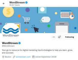 Wordstream branding - Twitter